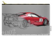 Ferrari Michelotto Race Car. Handmade Drawing. Number 9 Le Mans Carry-all Pouch