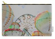 Ferris Wheel And Balloons Carry-all Pouch