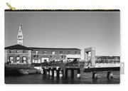 Ferry Building And Pinnacle Building - San Francisco Embarcadero - Black And White Carry-all Pouch