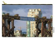 Ferry Dock At Granville Island In Vancouver Bc Closeup Carry-all Pouch