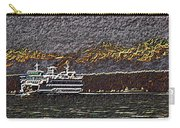 Ferry On Elliott Bay 3 Carry-all Pouch