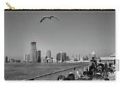 Ferry Ride To Statue Of Liberty Ny Nj Black Wht  Carry-all Pouch