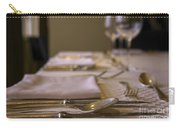 Festive Table Setting For A Formal Dinner  Carry-all Pouch
