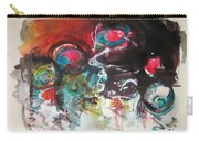 Fiddleheads- Landscape Painting For Sale Red Blue Green Carry-all Pouch