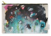Fiddleheads- Original Abstract Colorful Landscape Painting For Sale Red Blue Green Carry-all Pouch