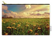 Field Of Dandelions At Sunset Carry-all Pouch