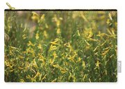 Field Of Lemon Yellow Bugle Flowers Carry-all Pouch