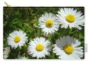 Field Of White Daisy Flowers Art Prints Summer Carry-all Pouch