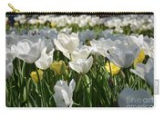 Field Of White Tulips Carry-all Pouch