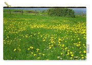 Field With Yellow Flowers Carry-all Pouch