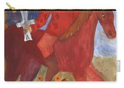 Fiery Knight Of Swords Carry-all Pouch
