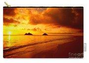 Fiery Lanikai Beach Carry-all Pouch