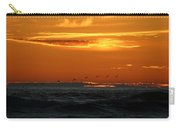 Fiery Ocean Sunset Carry-all Pouch by Christy Pooschke