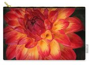 Fiery Red And Yellow Dahlia Carry-all Pouch