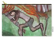 Fiery Seven Of Swords Illustrated Carry-all Pouch