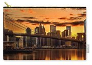 Fiery Sunset Over Manhattan  Carry-all Pouch