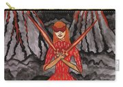 Fiery Two Of Swords Illustrated Carry-all Pouch
