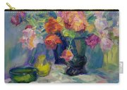 Fiesta Of Flowers - Vibrant Original Impressionist Oil Painting Carry-all Pouch