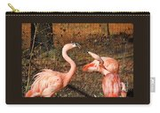 Fighting Flamingos Carry-all Pouch