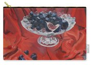 Figs And Grapes On Red  Carry-all Pouch