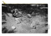 Figurative Holga Tryptich 4 Carry-all Pouch by Catherine Sobredo