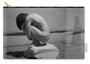 Figurative Holga Tryptich 5 Carry-all Pouch by Catherine Sobredo