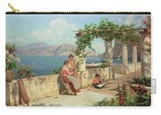 Figures On A Terrace In Capri  Carry-all Pouch