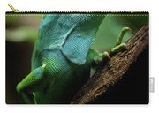 Fiji Iguana In Profile On Tree Branch Carry-all Pouch