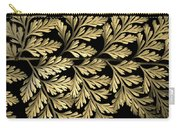 Filigree Fern Gold Carry-all Pouch