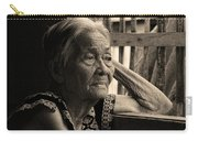 Filipino Lola Image Number 33 In Black And White Sepia Carry-all Pouch