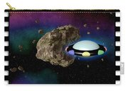 Film Frame With Asteroid And Ufo Carry-all Pouch