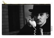 Film Noir Detective On Telephone Carry-all Pouch