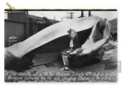Fin Whale 69 Feet Long At Fields Landing Whaling Station Circa 1945 Carry-all Pouch