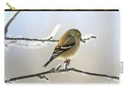 Finch On Frosty Perch Carry-all Pouch