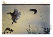 Finches Silhouette With Leaves 5 Carry-all Pouch