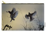 Finches Silhouette With Leaves 6 Carry-all Pouch