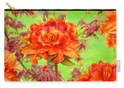 Fine Art Floral Art Prints Canvas Orange Rhodies Baslee Troutman Carry-all Pouch