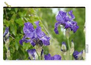 Fine Art Floral Prints Purple Iris Flowers Canvas Irises Baslee Troutman Carry-all Pouch