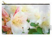 Fine Art Florals Prints White Pink Rhodies Rhododendrons Baslee Troutman Carry-all Pouch