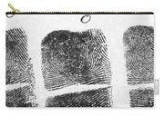 Fingerprints Of Vincenzo Peruggia, Mona Carry-all Pouch