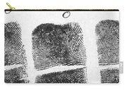 Fingerprints Of Vincenzo Peruggia, Mona Carry-all Pouch