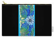 Finished15 Ink Drawing Handtowel Series W Black Background Carry-all Pouch