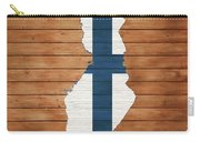 Finland Rustic Map On Wood Carry-all Pouch