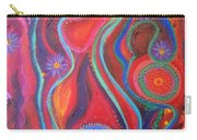 Fire Engine Red Explosion Carry-all Pouch by Daina White