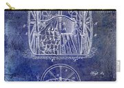 Fire Hose Cart Patent Blue Carry-all Pouch