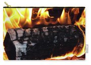 Fire On Wood Carry-all Pouch