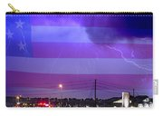Fire Rescue Station 67  Lightning Thunderstorm With Usa Flag Carry-all Pouch
