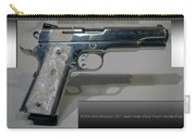 Firearms Smith And Wesson 1911 Semi Auto 45cal Pearl Handle Pistol Carry-all Pouch