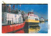 Fireboat And Ferries Carry-all Pouch by Dominic White