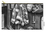 Fireman - Always Ready - Black And White Carry-all Pouch